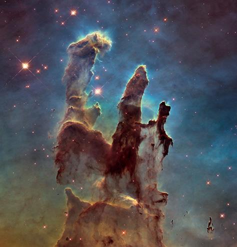 """La nueva imagen de los """"Pilares de la Creación"""" en la nebulosa M16. Créditos: NASA / ESA/Hubble / Hubble Heritage Team."""